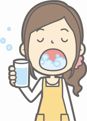 風邪のひき始めには、頻回にうがいをしましょう。