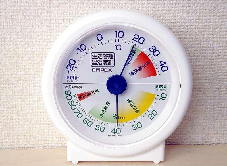 室温と湿度を調整する